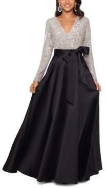 Xscape Evenings Sequinned-Top Ball Gown