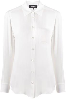 Paule Ka Plain Semi-Sheer Shirt
