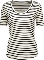 Rebecca Minkoff Willem striped cotton-blend T-shirt