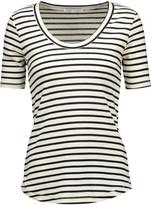 Rebecca Minkoff Willem striped cotton-blend T-shirt