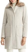 Lauren Ralph Lauren Zip Front Faux Fur Collar Coat