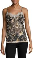Anna Sui Women's Tip Toe Through The Tulips Tank