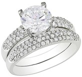 Allura 4.44 CT. T.W. Cubic Zirconia Bridal Ring Set in White Silver in Sterling Silver