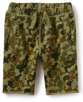 Tea Collection Coastal Camo Cotton Short (Toddler Boys)