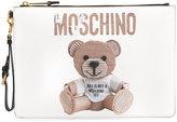 Moschino toy bear motif clutch bag