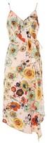 Topshop Star & Floral Ruffle Slip Dress