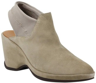L'Amour des Pieds Leather Wedge Clogs - Oniella