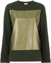 Fendi printed logo sweatshirt