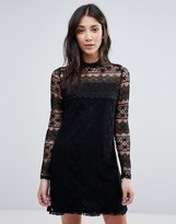 Vila High Neck Long Sleeve Dress