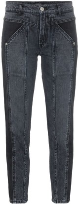 Adaptation Rider two-tone skinny jeans