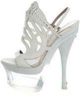 Versace Leather Platform Sandals