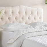 Three Posts Cleveland Upholstered Panel Headboard Size: Full/Queen, Upholstery: Off-White