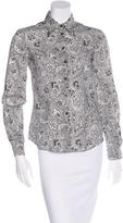 Miu Miu Paisley Button Up Shirt
