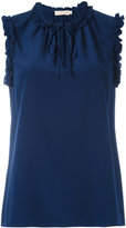 Tory Burch gathered neck top - women - Silk - 6