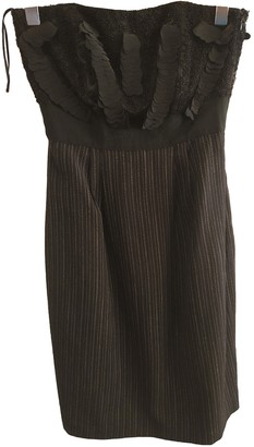 Philosophy di Alberta Ferretti Black Wool Dress for Women
