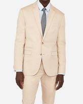 Express Slim Khaki Oxford Cotton Suit Jacket