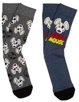 Character Danger Mouse 2 Pack of Ankle Socks, Men's