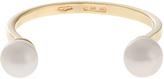 Delfina Delettrez Double-pearl yellow-gold ring