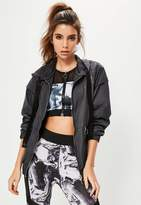 Missguided Active Navy Ring Pull Longline Jacket