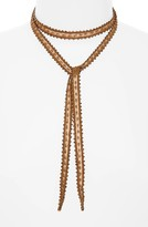 Chan Luu Women's Beaded Chiffon Tie Necklace