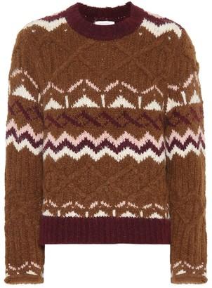 See by Chloe Fair Isle alpaca-blend sweater
