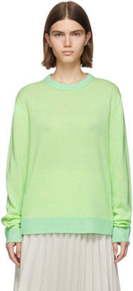 Acne Studios Green and Yellow Cashmere Kassio Sweater