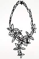 Batucada Black Flower Necklace