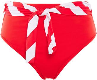 Duskii Belted High-rise Bikini Briefs
