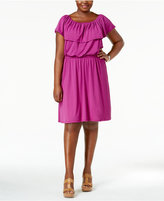 NY Collection Plus Size Off-The-Shoulder Dress