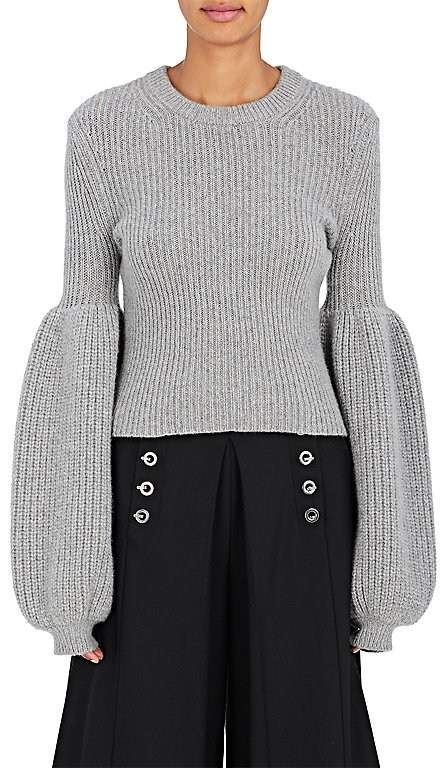 Alexander Wang Women's Wool-Blend Bishop-Sleeve Crop Sweater