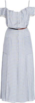 Altuzarra Nicole Off-The-Shoulder Gingham Crepe Midi Dress