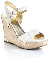 Ivanka Trump Hollyann Leather Wedge Sandals