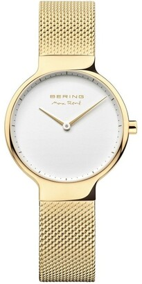Bering Max Rene 15531-334 Mesh Strap Gold Watch
