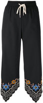 See by Chloe embroidered hem joggers - women - Cotton/Polyester - 36