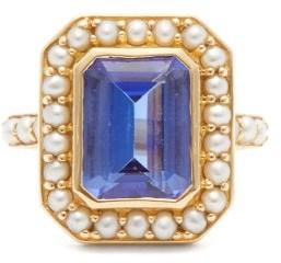 Jade Jagger Kyanite, Pearl & 18kt Gold Ring - Blue Gold