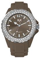 Haurex H2X Women's SS382DM3 Reef Stones Luminous Water Resistant Brown Soft Rubber Watch