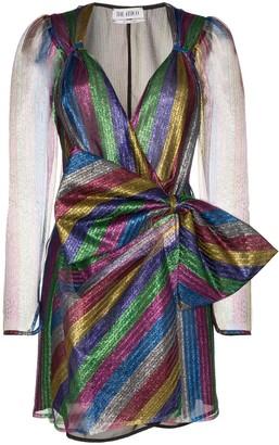 ATTICO Bow Detail Mini Dress
