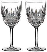 Waterford Lismore Diamond Red Wine Goblet Set of 2