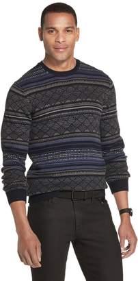 Van Heusen Men's Flex Fair Isle Crewneck Sweater