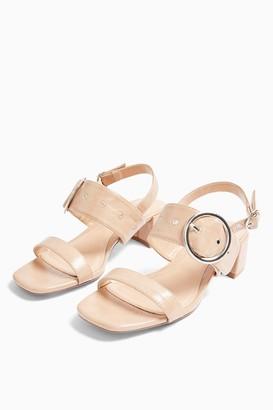 Topshop DAKOTA Buckle Block Sandals