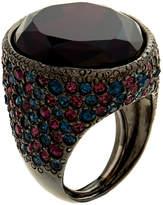 Kenneth Jay Lane Hematite & Amethyst Sapphire Ring
