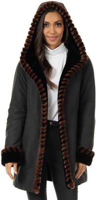 Fabulous Furs Faux-Fur Trimmed Storm Coat - Inclusive Sizing