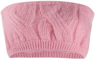 Greta Boldini Cable Knit Bandeau Top