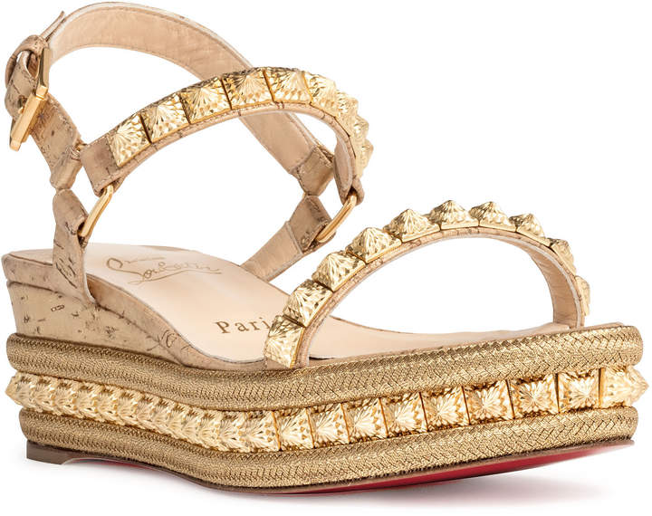50f6193515 Christian Louboutin Cork Wedge Women's Sandals - ShopStyle