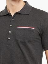 Thom Browne Grey Cotton Polo Shirt