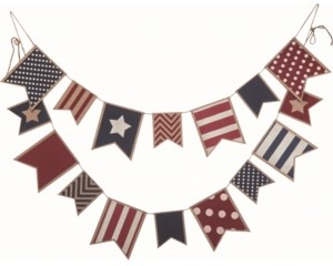 Transpac Trans Pac Multicolor 4th of July Americana Banner