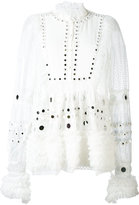 Amen embroidered blouse - women - Silk/Polyamide/Viscose/glass - 42