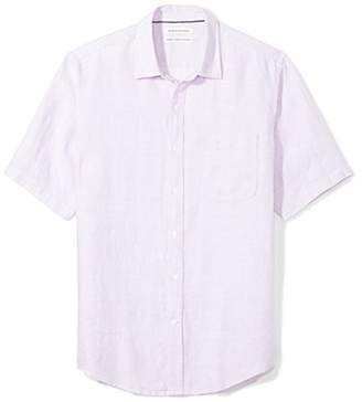 Amazon Essentials Regular-fit Short-sleeve Linen Shirt Button,(EU XXXL-4XL)