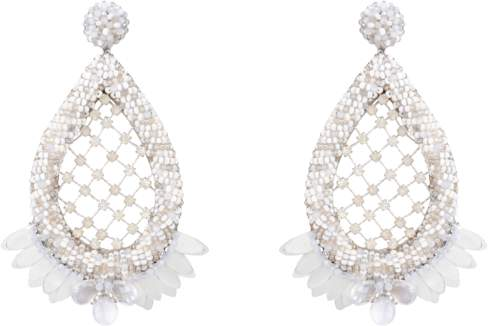 Deepa Gurnani Opal Earrings