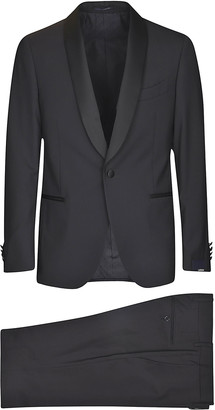 Lardini Shawl Lapel Single-buttoned Suit